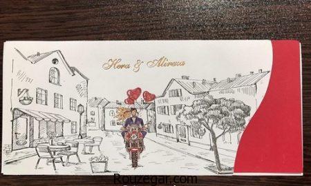 کارت عروسی خلاقانه، کارت عروسی خلاقانه دست ساز