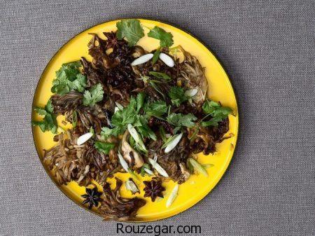 خوراک قارچ,خوراک قارچ و مرغ,خوراک قارچ فرانسوی,خوراک قارچ رژیمی