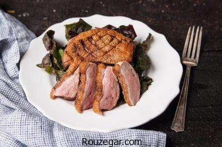 اردک سرخ شده,طرز تهیه سینه اردک,دستور پخت  اردک سرخ بریانی