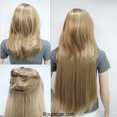 اکستنشن مو,اکستنشن مو چیست,اکستنشن مو طبیعی,اکستنشن مو با رینگ