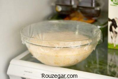 خمیر پیتزا خانگی,طرز تهیه خمیر پیتزا تصویری,خمیر پیتزا فوری