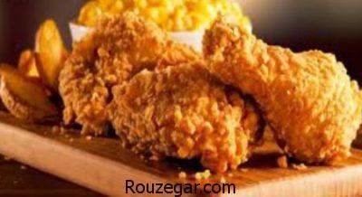 مرغ سوخاری بدون فر,طرز تهیه مرغ سوخاری,مرغ سوخاری کنتاکی در فر