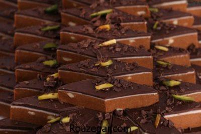 برشتوک شکلاتی بدون فر,طرز تهیه برشتوک شکلاتی با تصویر,طرز تهیه برشتوک شکلاتی قالبی