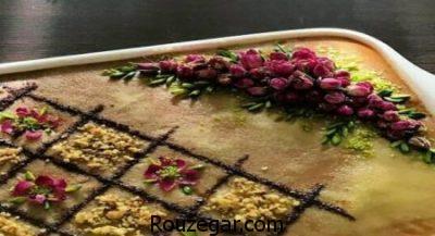 طرز تهیه رنگینک شیرازی,طرز تهیه رنگینک رولتی,طرز تهیه رنگینک خرما و گردو