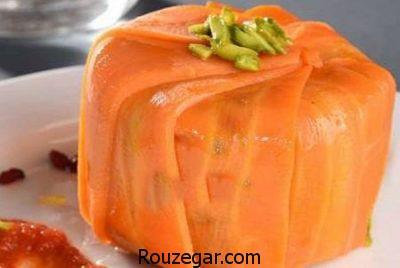 دلمه هویج سوخاری,طرز تهیه دلمه هویج,آموزش درست کردن دلمه هویج