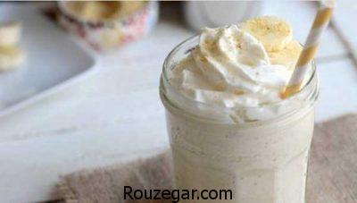 شیر موز بستنی خانگی,طرز تهیه معجون شیر موز بستنی,طرز تهیه شیر موز بستنی مخصوص