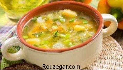 سوپ سبزی جدید,طرز تهیه سوپ سبزی,طرز تهیه سوپ سبزی با مرغ
