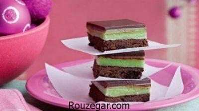 کیک نعنا و شکلات,طرز تهیه کیک نعنا,درست کردن کیک نعنا