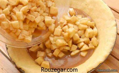 طرز تهیه پای سیب,تهیه پای سیب خوشمزه,فیلم طرز تهیه پای سیب