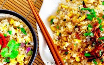 پلو سبزیجات با مرغ,پلو سبزیجات با گوشت,طرز تهیهپلو سبزیجات با گوشت