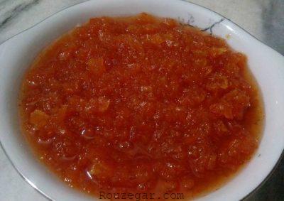 مربا هویج طرز تهیه,طرز تهیه مربای هویج با پیمانه,مربای هویج با پوست پرتقال