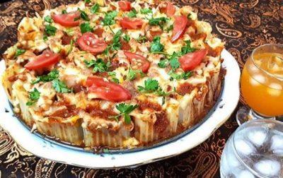 پاستا لوله ای شکم پر,پاستا لوله ای ایتالیایی,طرز تهیه پاستا لوله ای رستورانی