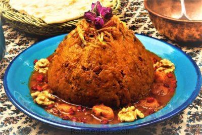کوفته آلو شیرازی,طرز تهیه کوفته آلو,طرز تهیه کوفته برنجی با آلو