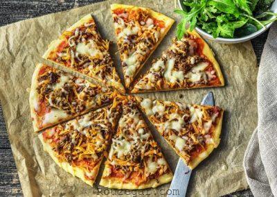 پیتزا پیاز فرانسوی,پیتزا پیاز جعفری,طرز تهیه پیتزا پیاز