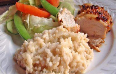 برنج ایتالیایی ریزوتو,طرز تهیه ریزوتو مرغ,طرز تهیه برنج ایتالیایی