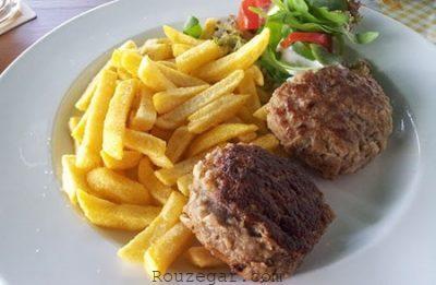دستور تهیه کتلت آلمانی,طرز پخت کتلت آلمانی,کتلت آلمانی ساده خانگی