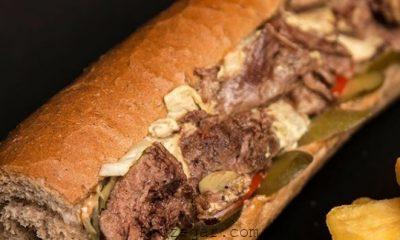 ساندویچ زبان با قارچ,ساندویچ زبان گوساله,ساندویچ زبان گوسفندی,طرز تهیه ساندویچ زبان,ساندویچ زبان