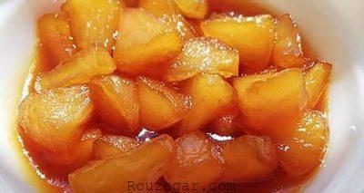 دسر سیب سرخ شده,دسر سیب ژله ای,دسر سیب پخته,دسر سیب با دارچین,دسر سیب کاراملی