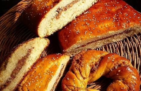 نان مغزدار شربتی,نان مغزدار شکلاتی,نان مغزدار تبریز,طرز تهیه نان مغزدار,نان مغزدار,نان مغزدار گردویی