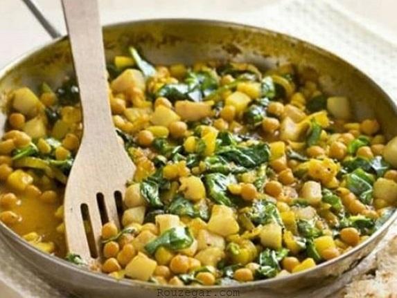 خوراک نخود بندری,طرز تهیه خوراک نخود,خوراک نخود بوشهری,خوراک نخود و لوبیا,خوراک نخود آبگوشتی,خوراک نخود