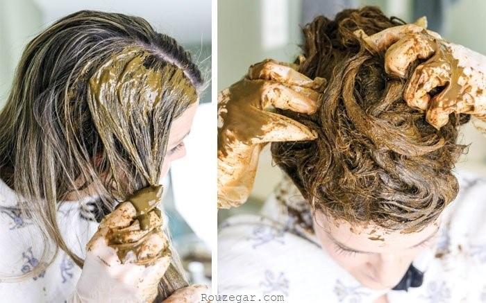 استفاده از حنای بیرنگ به عنوان ماسک مو