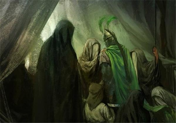 وداع امام حسین با اهل حرم
