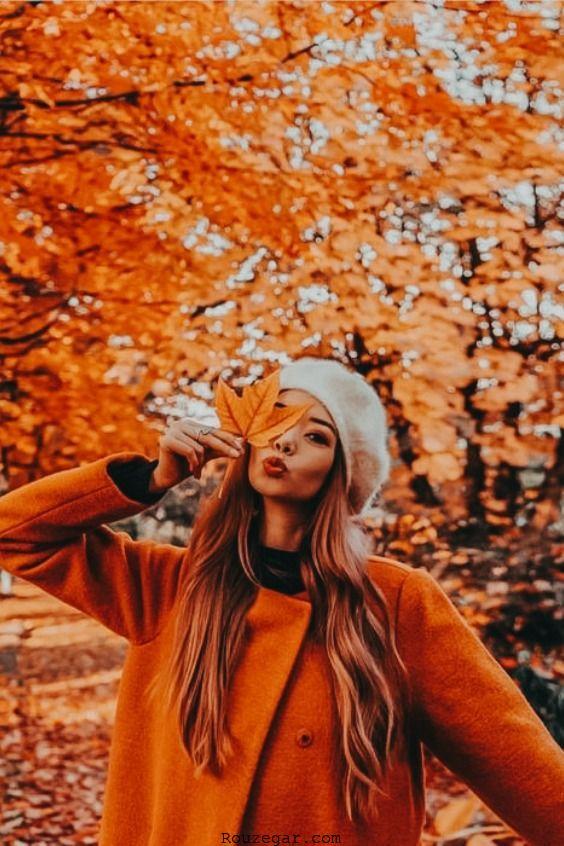 زیباترین مدل عکاسی در پاییز