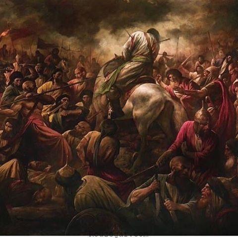 لحظه شهادت امام حسین