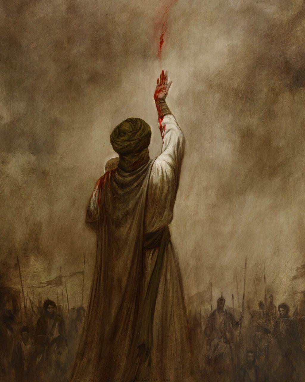 لحظه شهادت حضرت علی اصغر در روز عاشورا