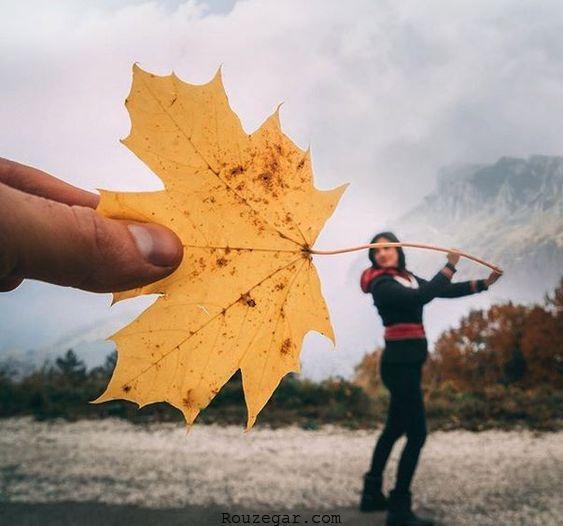 مدل عکاسی دخترانه در پاییز