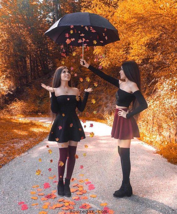 عکس گرفتن خیلی خوشگل در پاییز