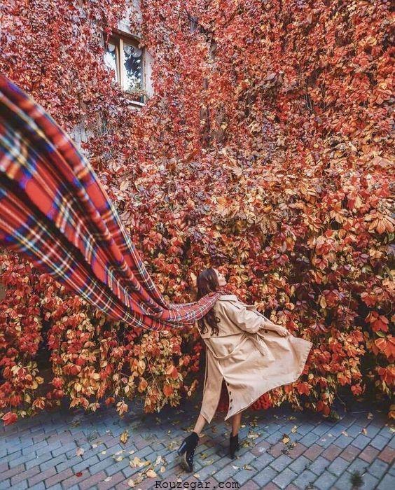مدل عکاسی در پاییز
