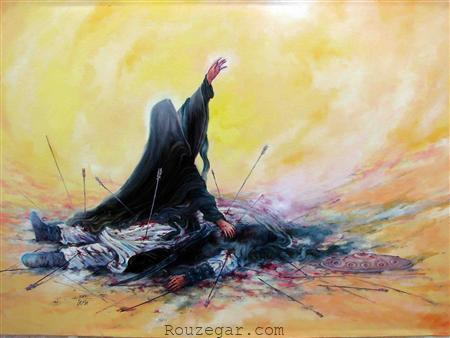 حضرت زینب بر پیکر امام حسین