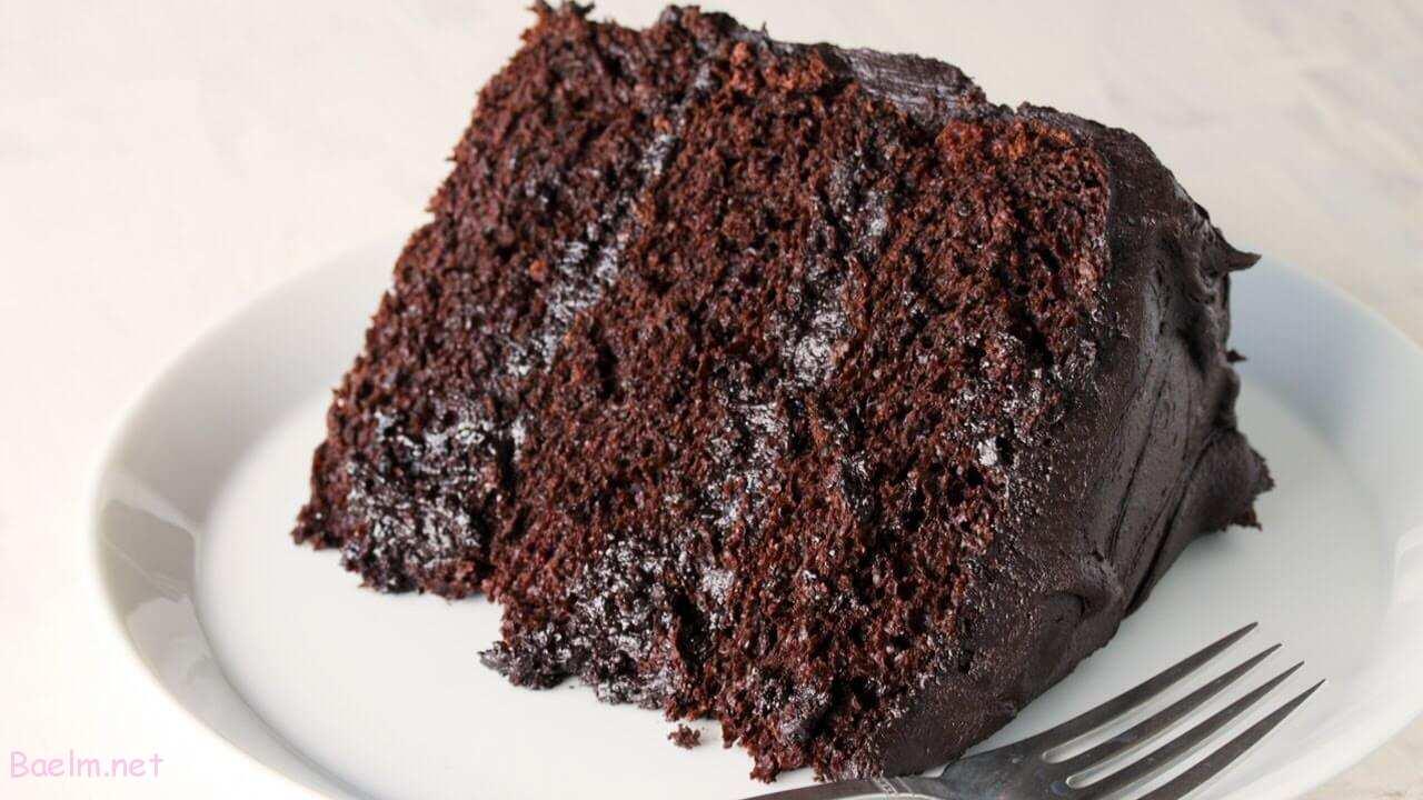 کیک شکلاتی بدون تخم مرغ با شیر   طرز تهیه کیک شکلاتی خانگی • باعلم