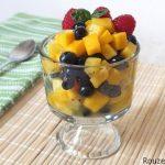 طرز تهیه سالاد میوه انبه + فواید میوه انبه