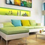 20 ایده رنگارنگ برای طراحی دکوراسیون اتاق نشیمن + طراحی شاد و جذاباتاق نشیمن