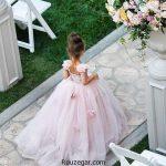 لباس عروس بچه گانه + زیباترین لباس عروس بچه گانه مزون دوز 2018