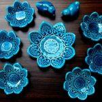 جدیدترین مدل ظروف سفره هفت سین سفالی برای عید نوروز 96