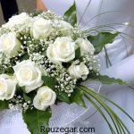 ژورنال زیباترین مدل دسته گل عروس رز سفید ایرانی و اروپایی