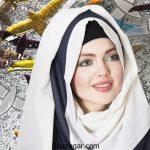 ژورنال شیک ترین مدل شال ابریشمی مارک دار زنانه عید 96