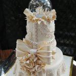 جدیدترین مدل کیک عروسی شیک  و رمانتیک طبقاتی 2017 – 96