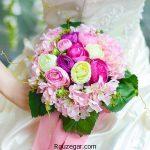 ژورنال زیباترین مدل دسته گل عروس رز طبیعی طرح 2017 – 96