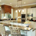 مدل کابینت + عکس مدل کابینت آشپزخانه جدید ایرانی سفید هایگلاس