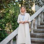 مدل مانتو کرم رنگ و شیک سحر دولتشاهی + عکس