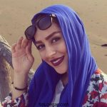 سمانه پاکدل از سالن آرایشگاه خود تبلیغ کرد