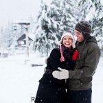 سری جدید عکس های عاشقانه روز برفی و زمستانی فانتزی دخترانه