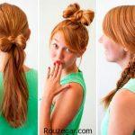آموزش بستن مو خیلی شیک و ساده در منزل + عکس