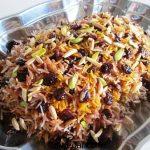 آلبالو پلو با مرغ رستورانی + طرز تهیه آلبالو پلو مجلسی با گوشت تازه