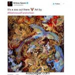 واکنش کاربران ایرانی به انتشار تابلوی استاد فرشچیان در اینستاگرام بریتنی اسپیرز