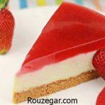 آموزش طرز تهیه چیز کیک یخچالی ساده و اصول خوشمزه شدن چیز کیک